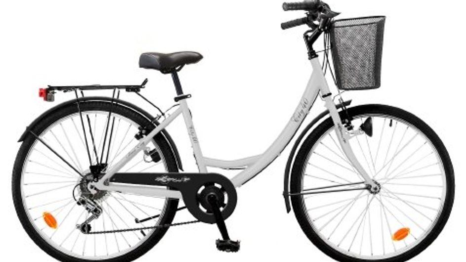 Magali a testé le vélo de ville et le porte-bébé Carrefour