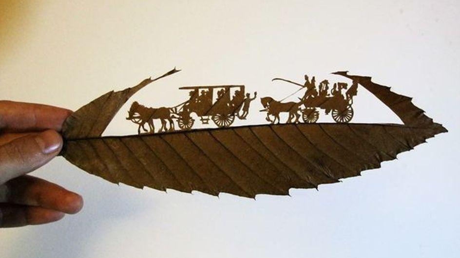 L'arte in una foglia. Quando l'intaglio incontra madre natura: le incredibili opere di Omid Asadi