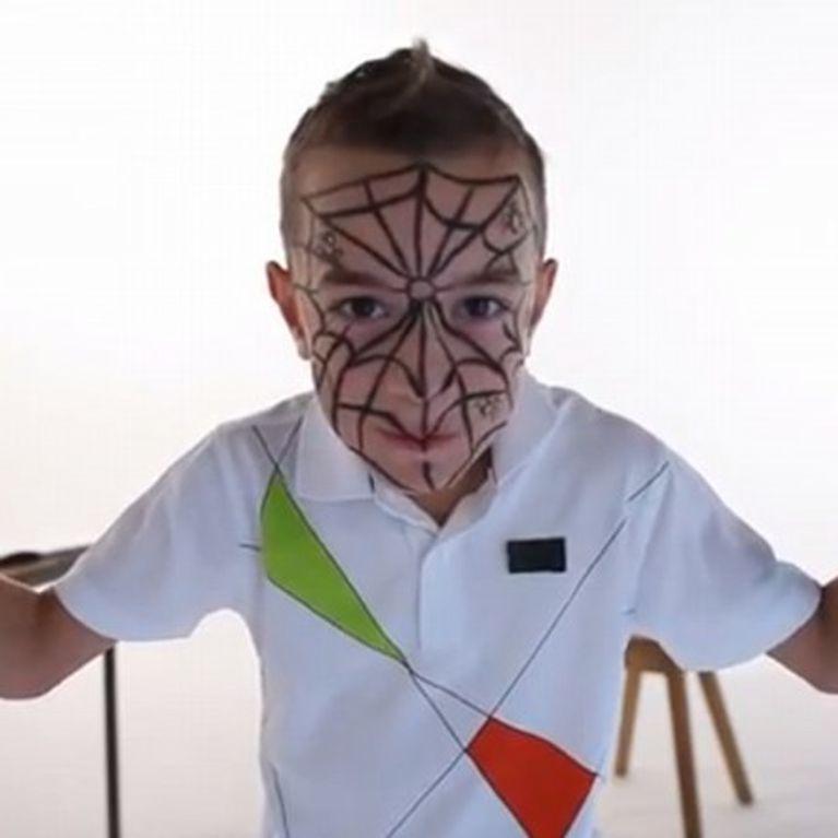 Maquillage Araignée Garçon Tutoriel Maquillage Enfant Facile