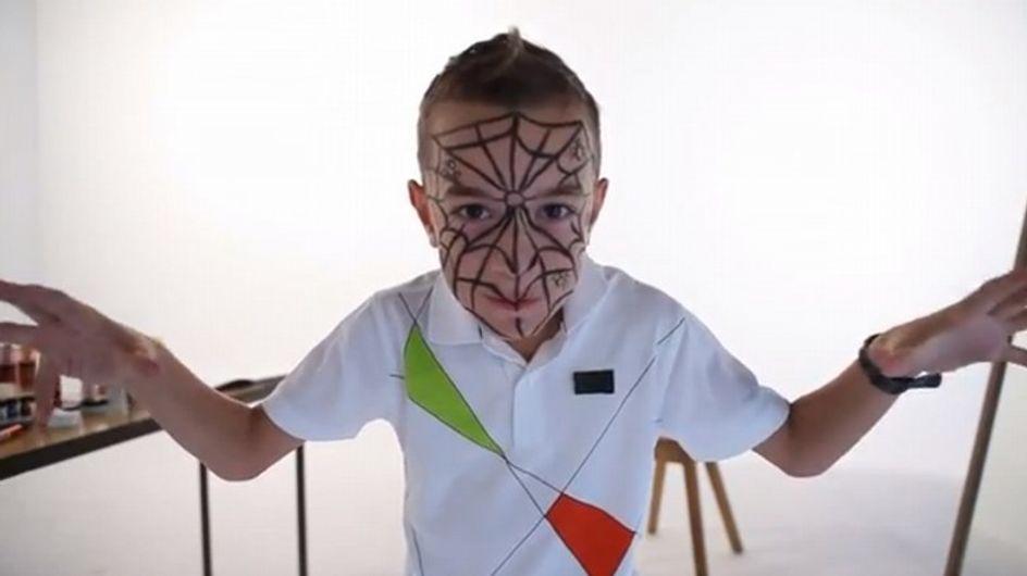 Tutoriel Maquillage Facile d'Araignée Pour Enfant