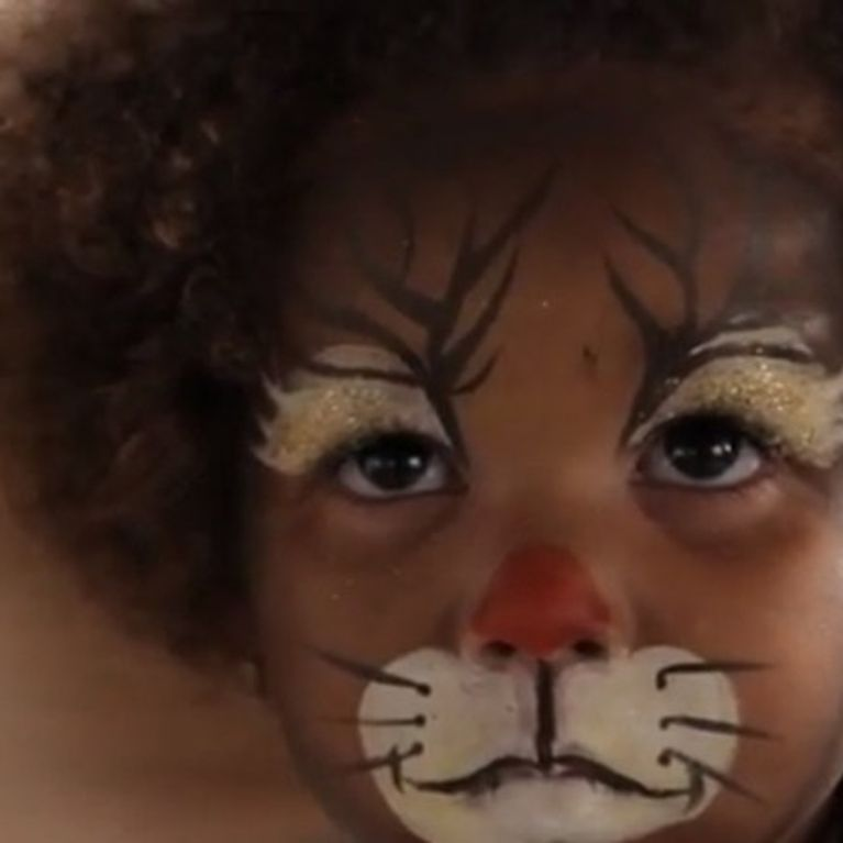 Maquillage Renne de Noël , Tutoriel maquillage enfant