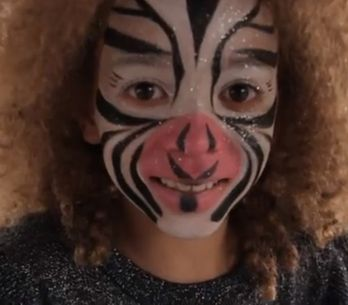 Maquillage Zebre - Tutoriel maquillage enfant facile