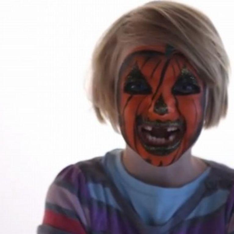 Maquillage Citrouille Fille Tutoriel Maquillage Enfant Facile Jeux