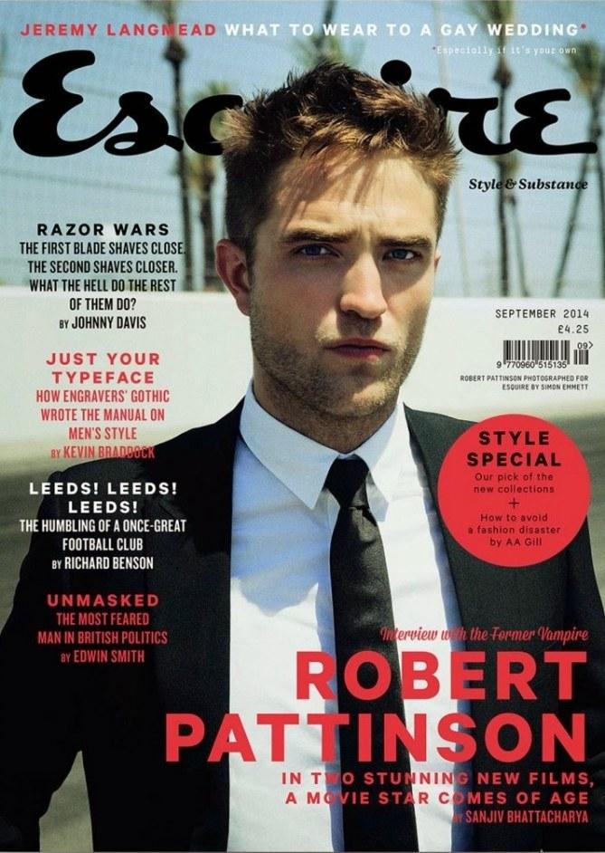 Robert Pattinson pour Esquire