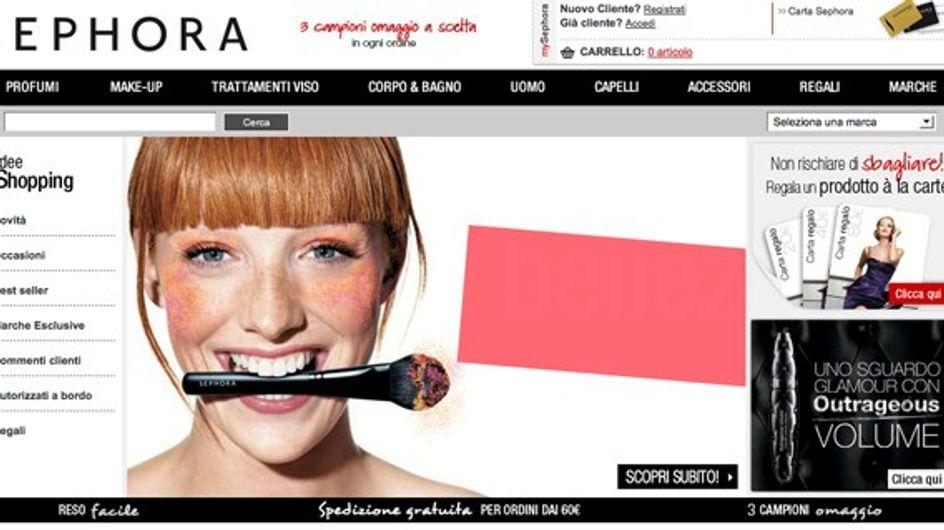 Sephora apre lo store online