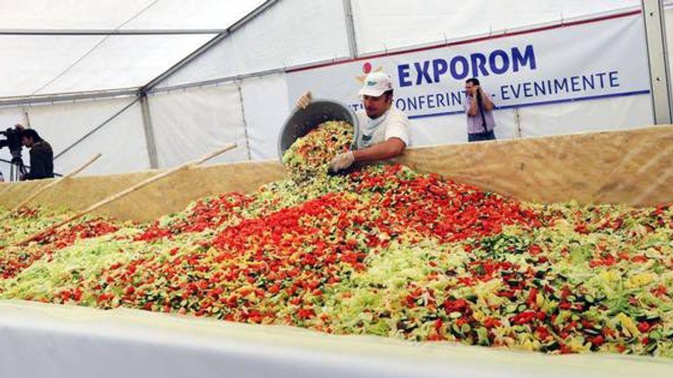 Un'insalata da record in Romania