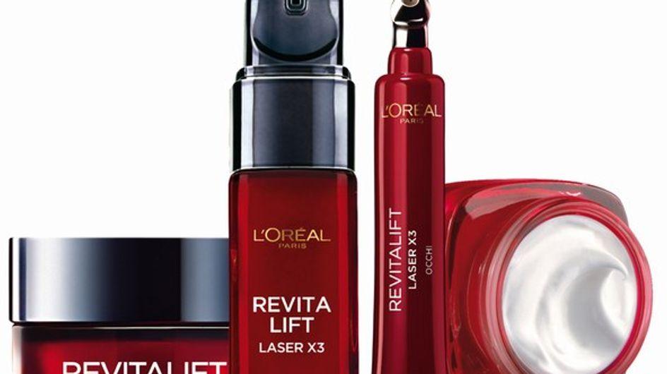 La gamma di trattamenti viso dalla tripla azione anti-età: Revitalift Laser X3