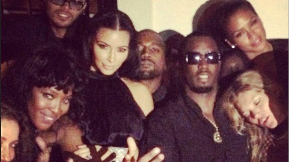 Kim Kardashian, Kanye West, Kate Moss, Naomi Campbell : Tous réunis dans un selfie de Puff Daddy
