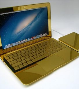 Macbook e iPhone rivestiti d'oro
