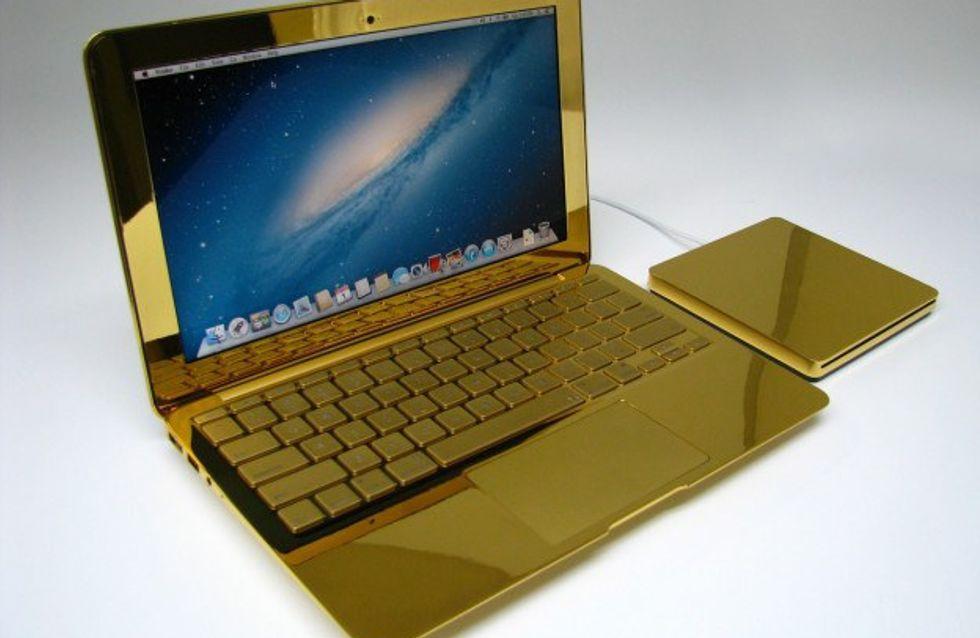 Macbook e iPhone rivestiti d'oro