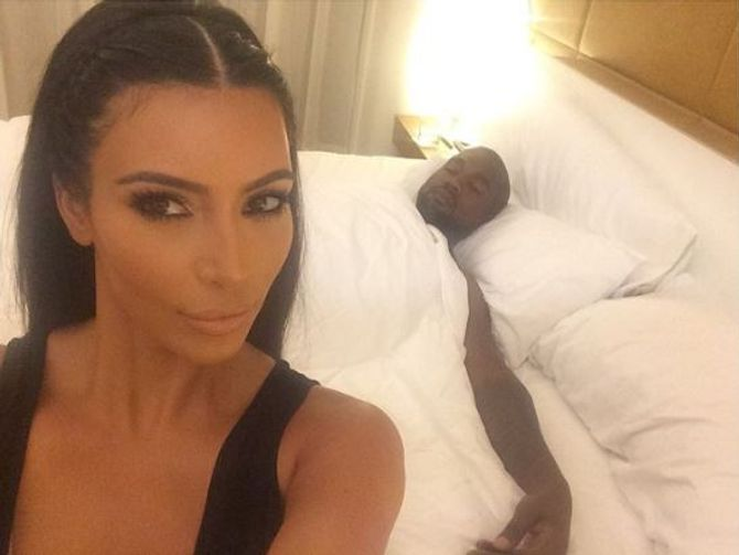 Kim Kardashian au lit avec Kanye West