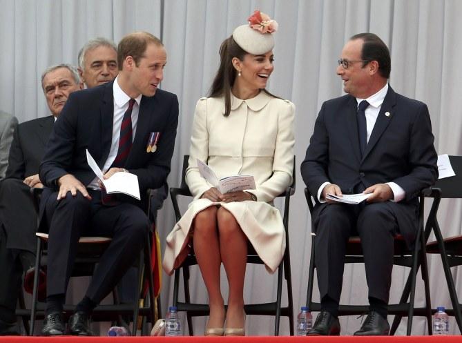 Kate Middleton, le Prince William et François Hollande