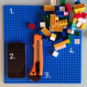 Matériel - Tuto repose téléphone portable LEGO