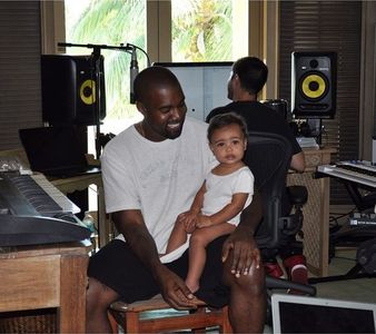 North en studio avec Kanye West