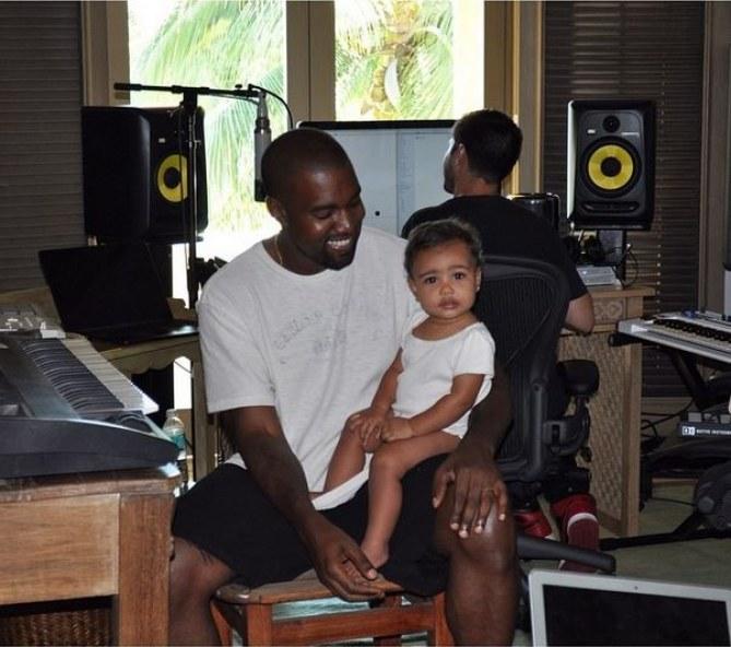 North en studio avec Kanye West