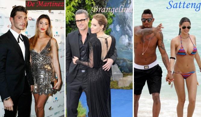Alcune tra le più celebri supercoppie vip