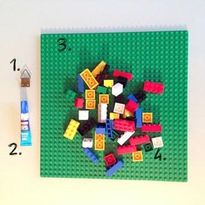 Le matériel - Tuto écriteau personnalisé LEGO