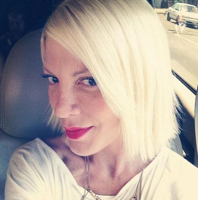 Tori Spelling et sa nouvelle coiffure