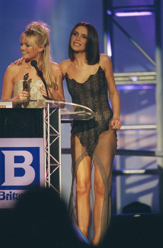 Victoria Beckham aux Brit Awards en 1997