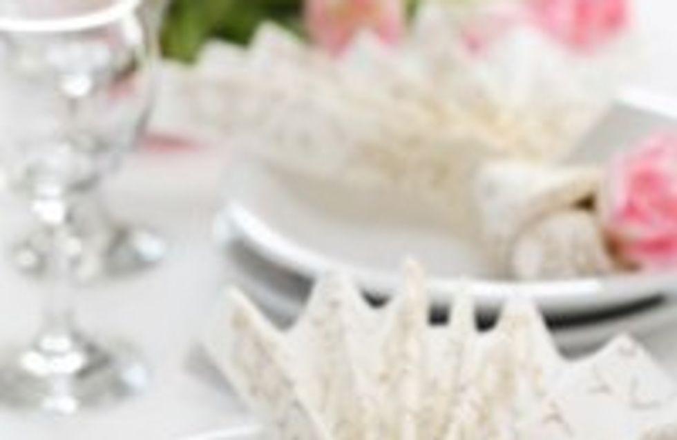 Servietten falten für die Hochzeit