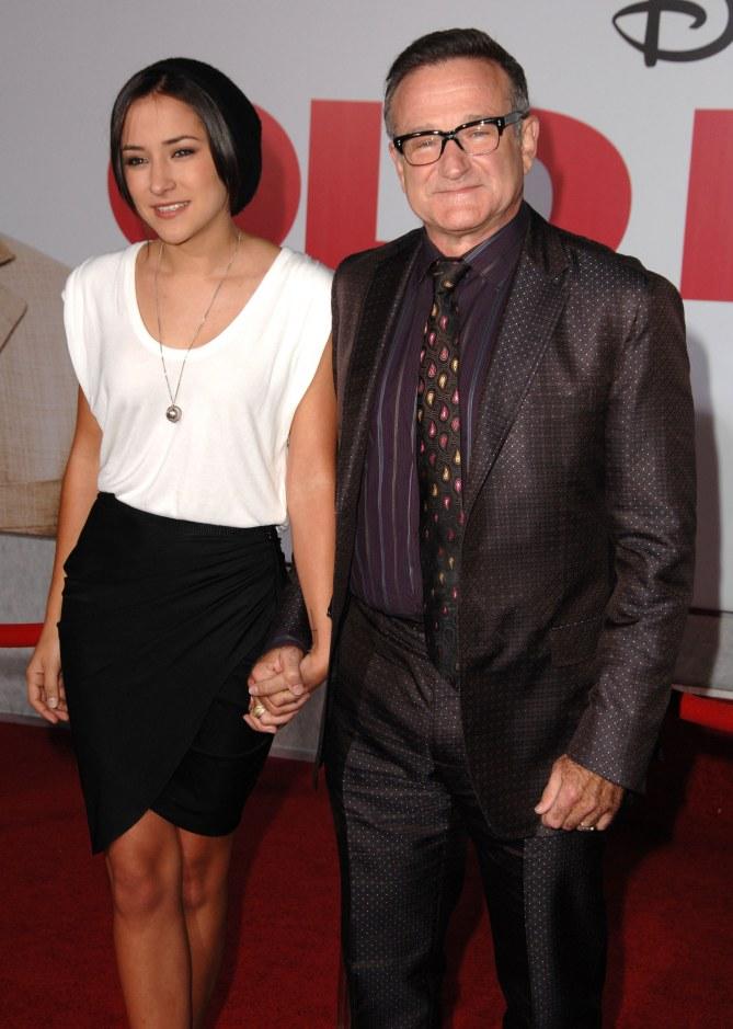 Robin Williams et sa fille Zelda en 2009