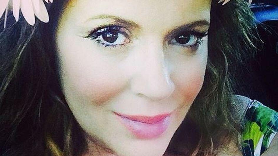 Alyssa Milano : Bucolique pour sa baby shower (Photos)