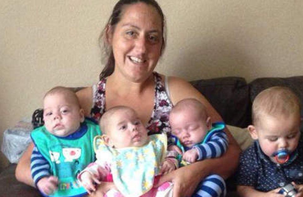 Elle pensait être stérile mais accouche de quatre bébés en neuf mois