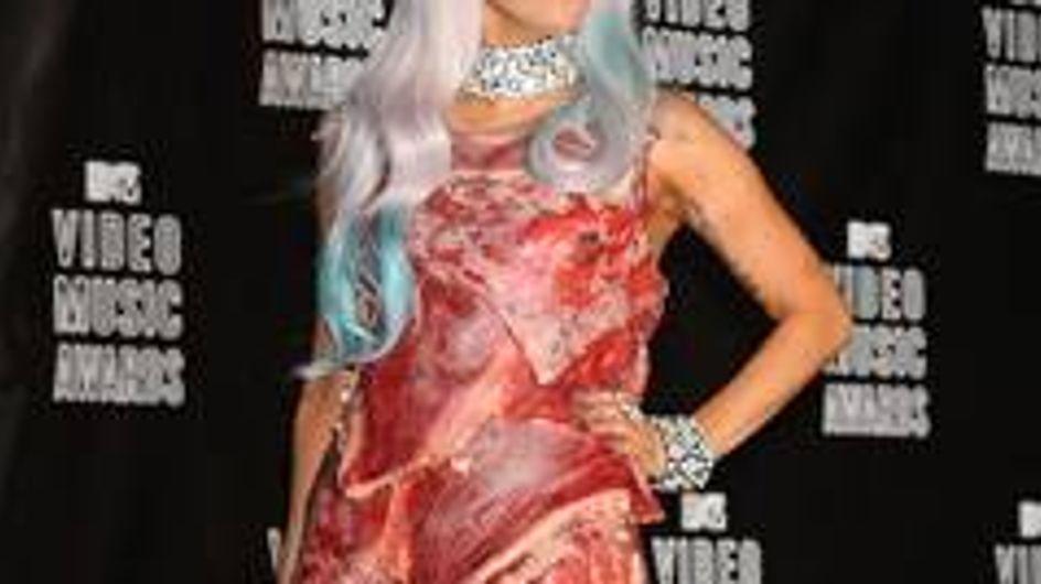 Lady Gagas Fleischkleid wird ausgestellt