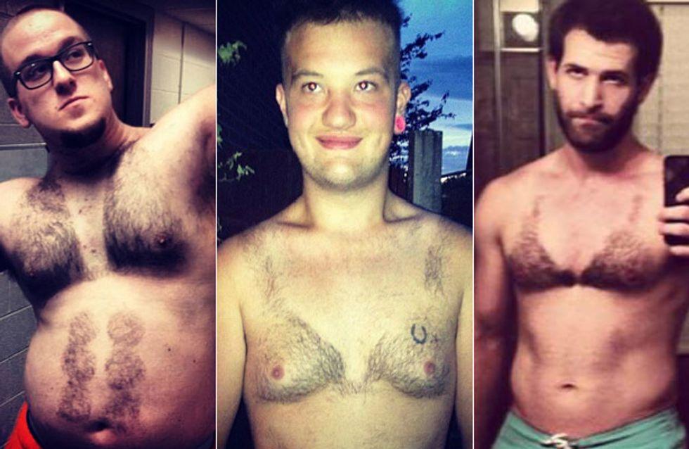 Haarig bis scheußlich: Diese Männer rasieren sich die Brusthaare zum Bikini