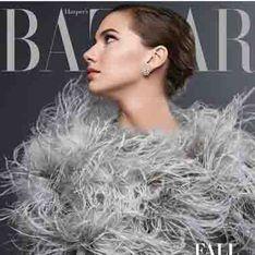 La petite fille d'Audrey Hepburn prend la pose en Une du Harper's Bazaar