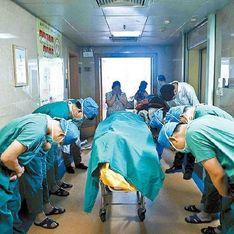 L'émouvant hommage d'une équipe de chirurgiens devant un enfant donneur d'organes