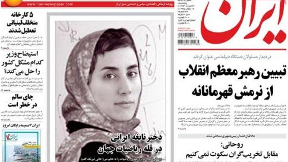 La prensa iraní le pone el velo a la laureada Maryam Mirzakhani