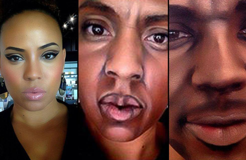 Snoop Dogg, Jay Z, Eminem… avec du maquillage, cette femme devient le sosie des stars masculines !