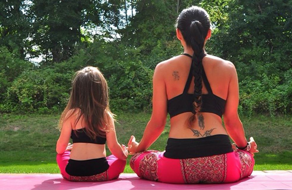 #MiniMeYoga: Parents Are Challenging Their Kids To Become Yoga Masters