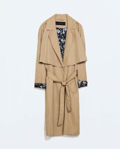 Trench fluide camouflage Zara, 59.95 euros