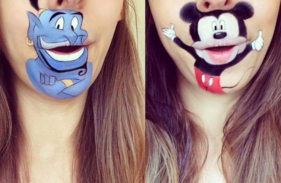 E se você transformasse sua boca em personagens de desenhos animados?