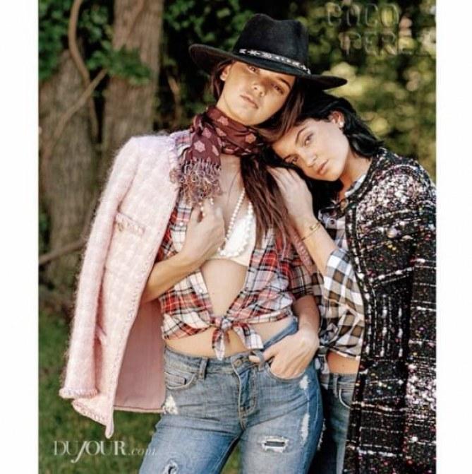 Kendall et Kylie Jenner pour Dujour Magazine
