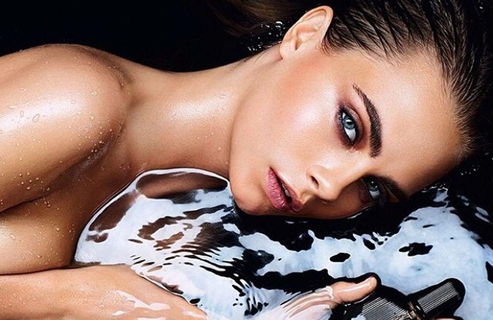 Cara Delevingne : Nue et sensuelle pour le parfum Black Orchid (Photo)