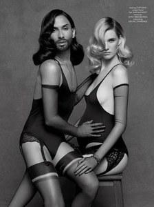 Conchita Wurst et Ashleigh Good pour Karl Lagerfeld
