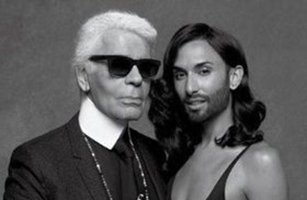 Conchita Wurst : Nouvelle muse de Karl Lagerfeld (Photos)