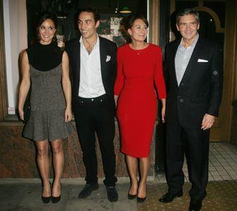 Carole Middleton avec son mari et deux de ses enfants