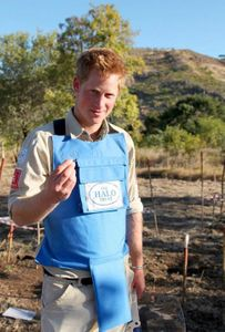 Prince Harry, parrain de l'ONG The Halo Trust