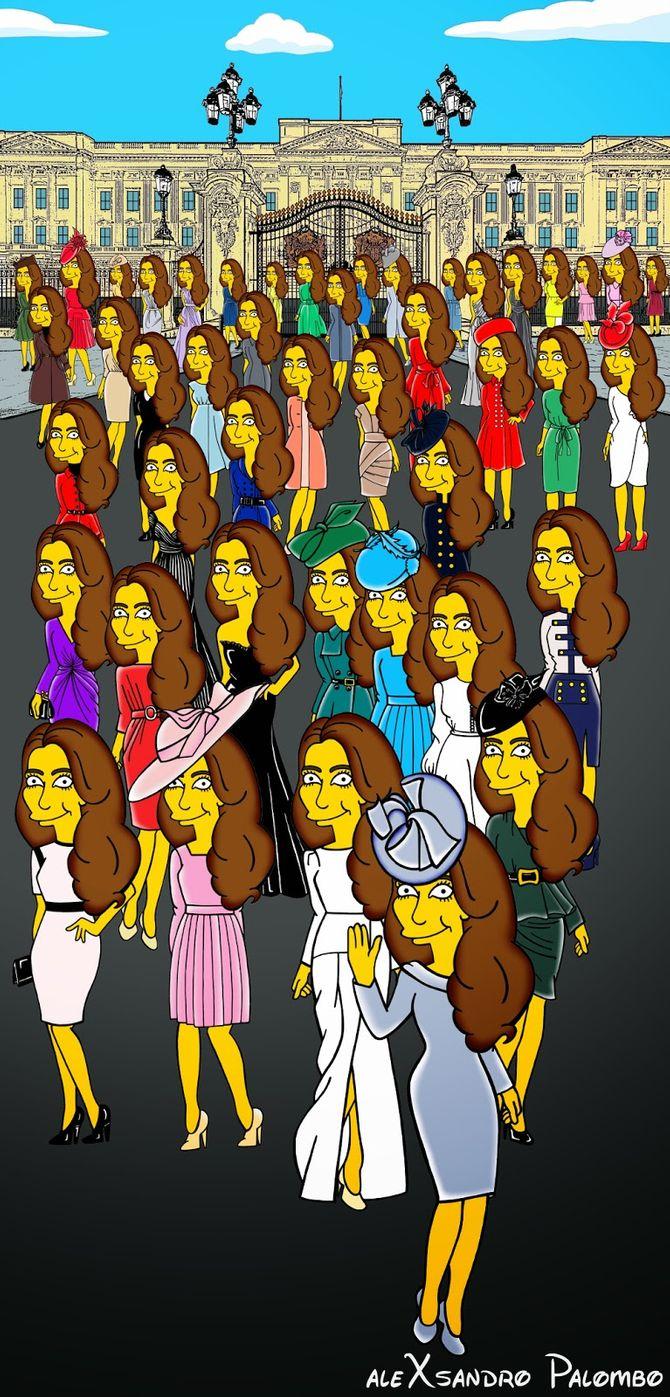 Kate Middleton revue façon Simpson par AleXsandro Palombo