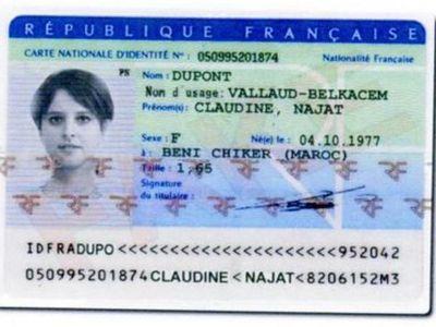 La fausse carte d'identité de Najat Vallaud-Belkacem