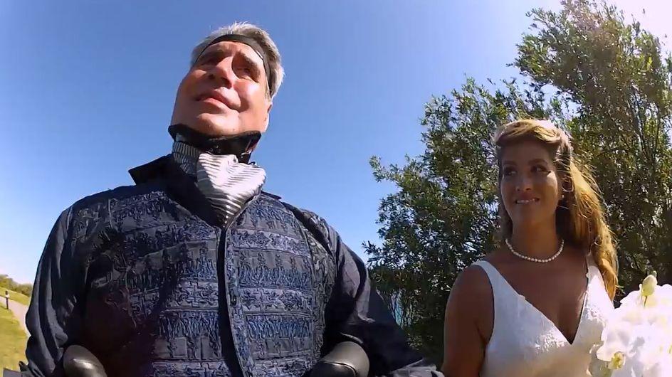 Historias de superación: un padre enfermo de Esclerosis Lateral Amiatrófica acompaña a su hija al altar