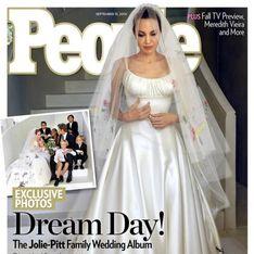 Primeras imágenes de Angelina Jolie vestida de novia