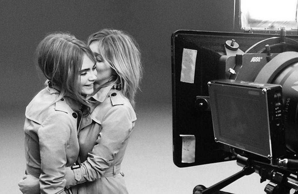 Kate Moss et Cara Delevingne : Complices pour Burberry