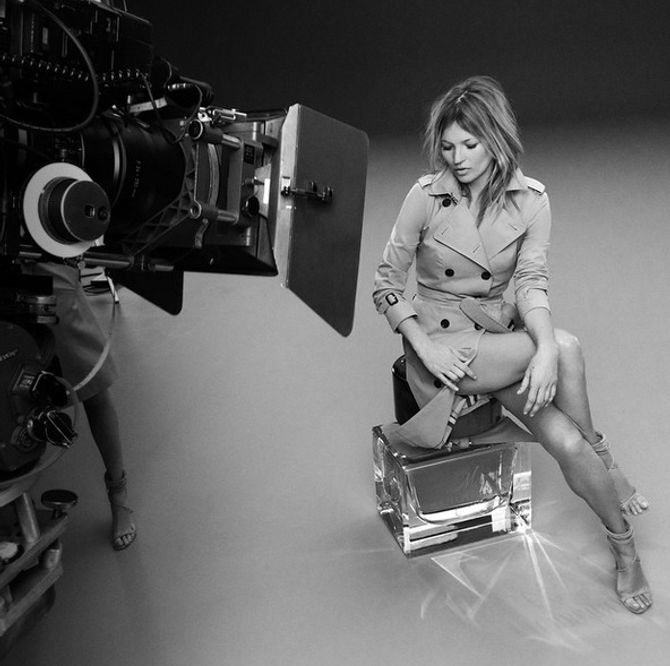 Kate Moss et Cara Delevingne - Campagne My Burberry