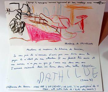 La lettre d'excuse de la petite Mathilde