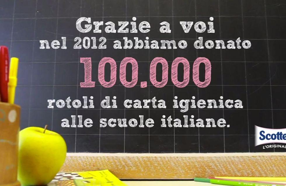 La carezza per le scuole: l'iniziativa di Scottex a sostegno delle scuole italiane